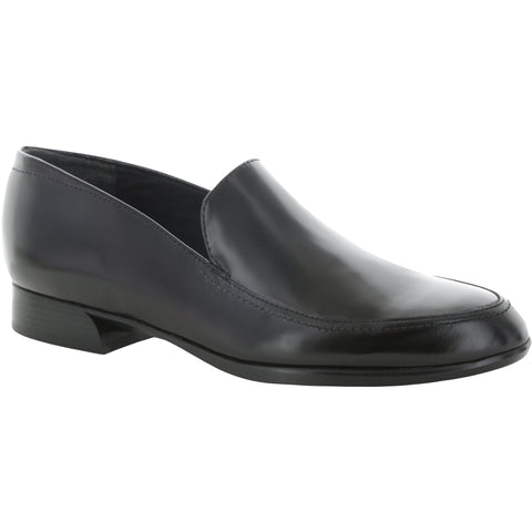 Harrison Black Leather Loafers