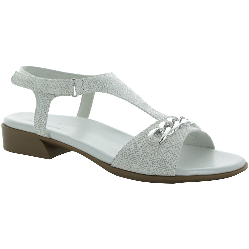 Jackie White Sandals