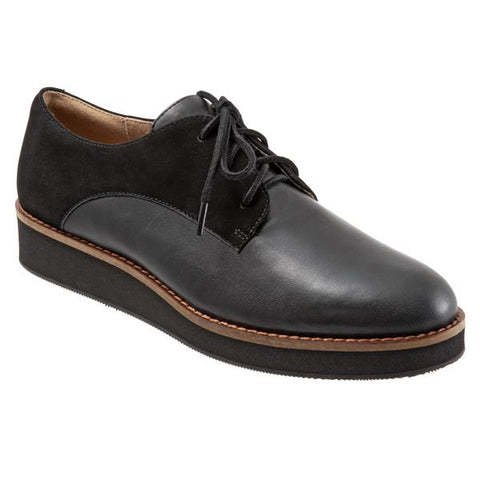 Willis Black Leather Oxford
