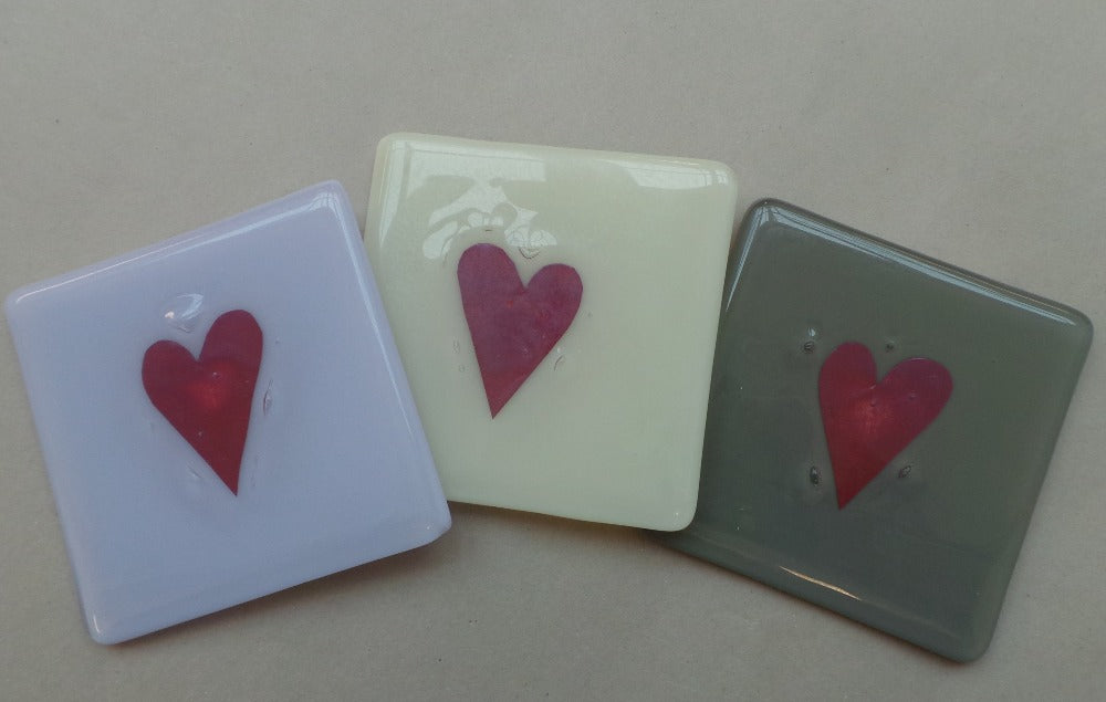 Heart Glass Coaster