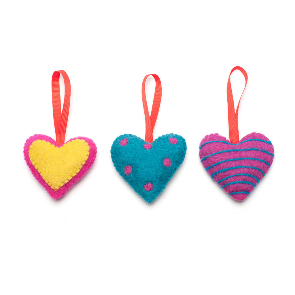 Love Heart Felt Decoration