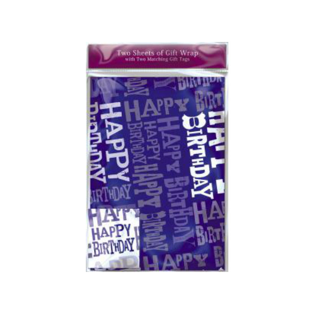 Birthday Blue Gift Wrap