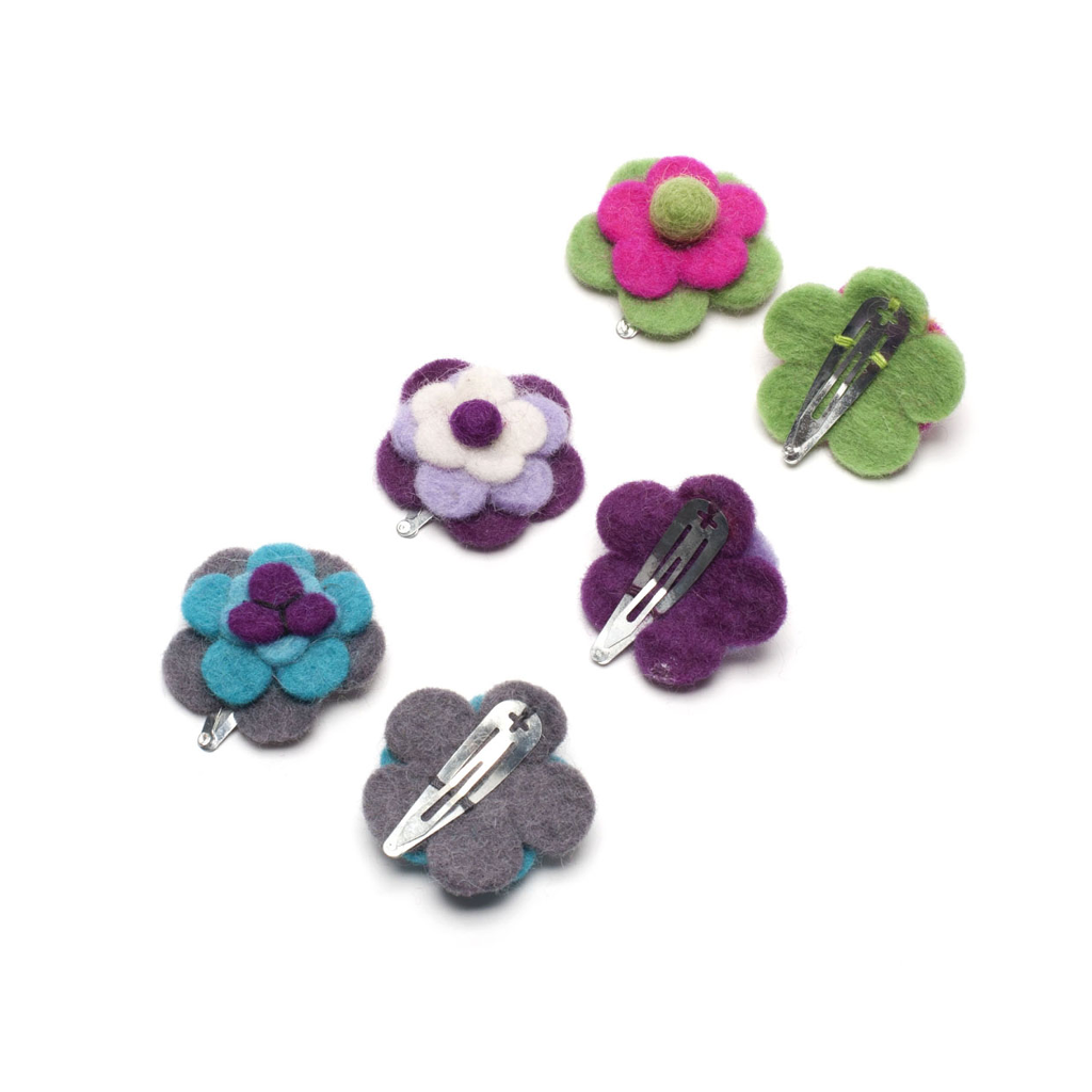 Blooming Felt Hair Clip (set of two)