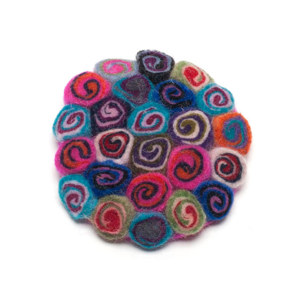 Rainbow Felt Brooch