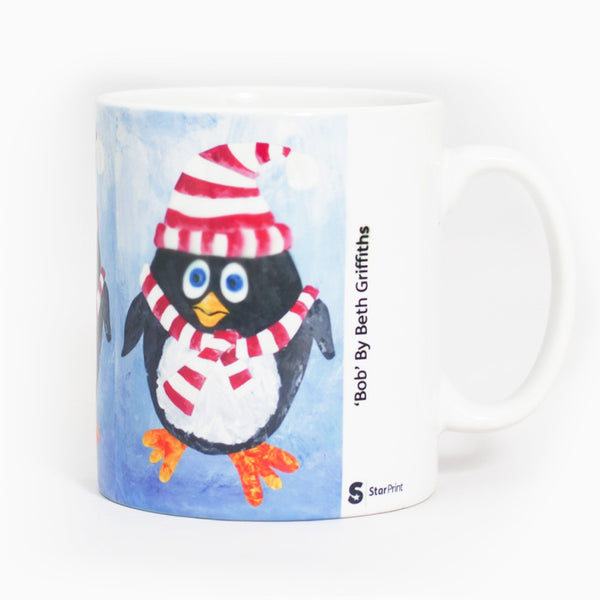 Seasonal Penguin Mug