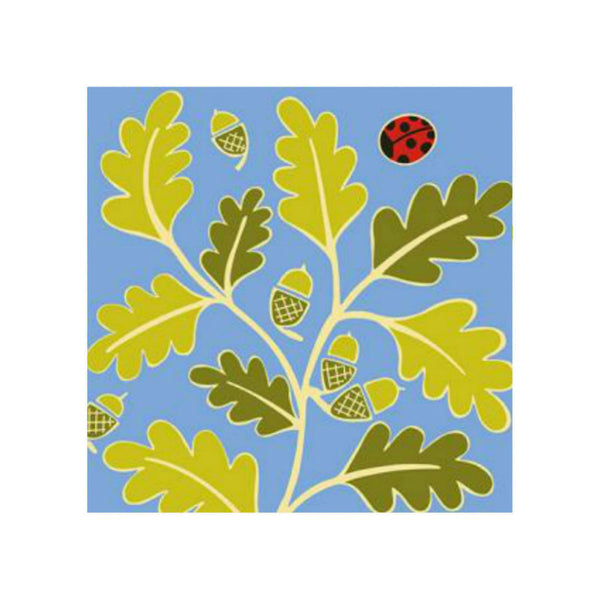 Oak Leaves Greetings Card