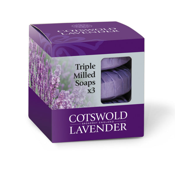 Cotswold Lavender Soap Pack Gift Set (pk of 3)