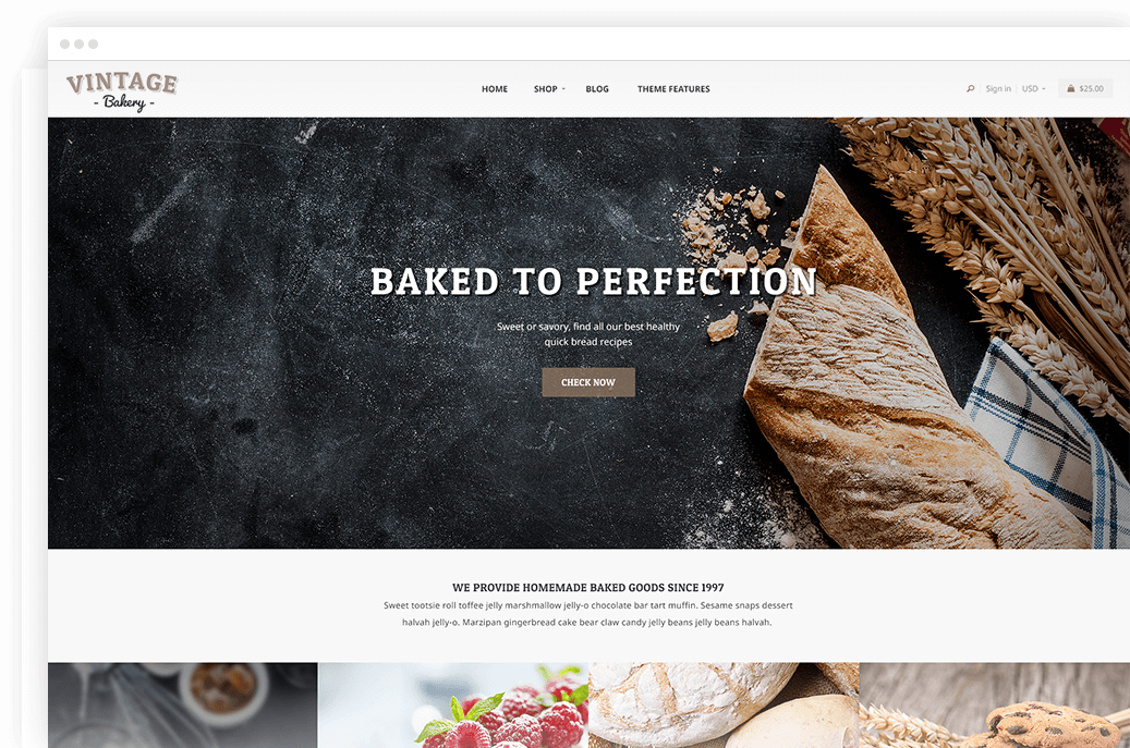 Shopify Vintage Bakery theme