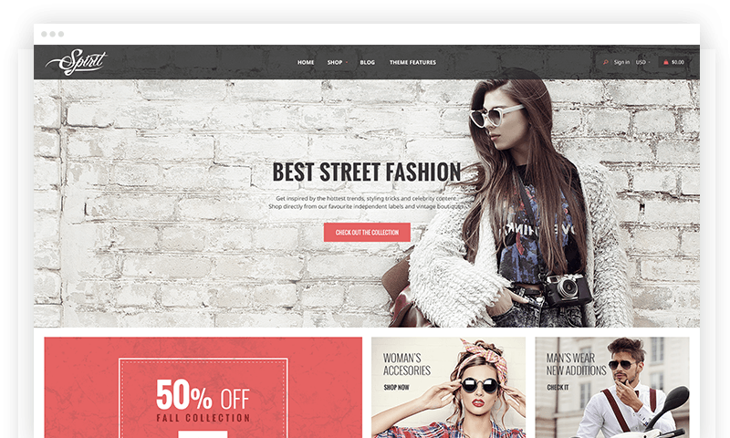 Shopify Spirit theme