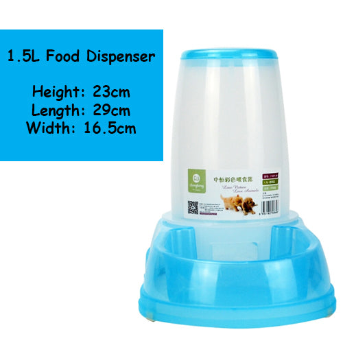 Small Automatic Water / Food Dispenser 1.5Litre - Mr Fluffy Singapore Online Pet Store