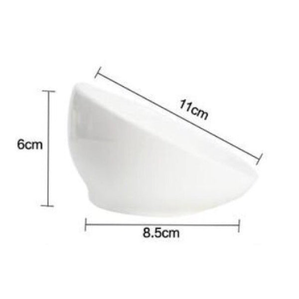 Ceramic Pet Bowl With Elevated Stand - Mr Fluffy Singapore Online Pet Store