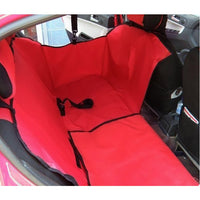 Pet Car Back Seat Hammock With Sides And Seat Belt Buckle Openings - Mr Fluffy
