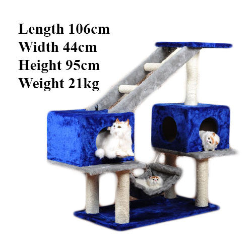 4-Tier Cat Climbing Tree / Playhouse - Mr Fluffy Singapore Online Pet Store