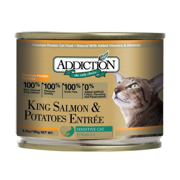 Addiction King Salmon & Potatoes Entree (Grain Free) Cat Food - Mr Fluffy Singapore Online Pet Store