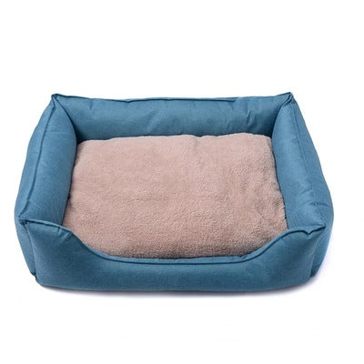 Duo Tone Pet Cushion / Bed with Waterproof Base - Mr Fluffy Singapore Online Pet Store