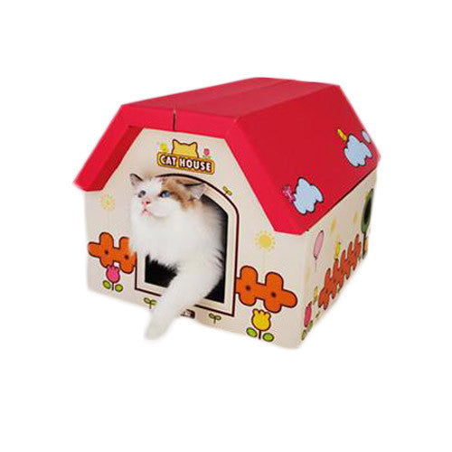 DIY Cardboard House For Cats / Small Pets - Mr Fluffy Singapore Online Pet Store