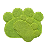 Paw Shape Cat Litter Non Slip Mat - Mr Fluffy