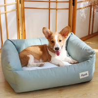 Pastel Pet Cushion / Bed with Waterproof Base - Mr Fluffy