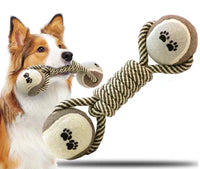 Double Ball with Knotted Rope - Mr Fluffy Singapore Online Pet Store