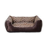 Leopard Print Pet Cushion / Pillow with Waterproof Base - Mr Fluffy