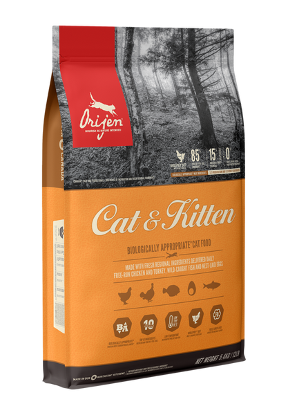 Orijen Cat & Kitten 5.4kg Cat Food - Mr Fluffy Singapore Online Pet Store