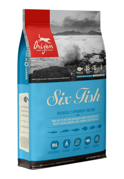Orijen Six Fish 11.4kg Dog Food - Mr Fluffy Singapore Online Pet Store