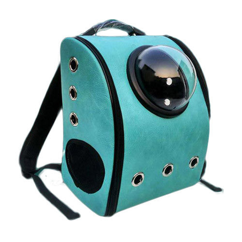PU Leather Astronaut Pet Backpack / Carrier - Mr Fluffy Singapore Online Pet Store