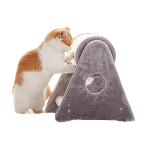 Rolling Scratch Pad Cat Climbing Tree / Playhouse - Mr Fluffy Singapore Online Pet Store