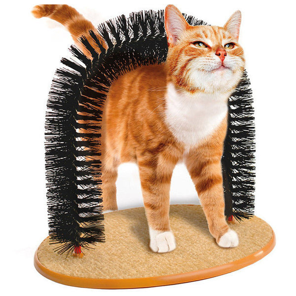 Purrfect Arch Cat Groomer & Massager - Mr Fluffy Singapore Online Pet Store
