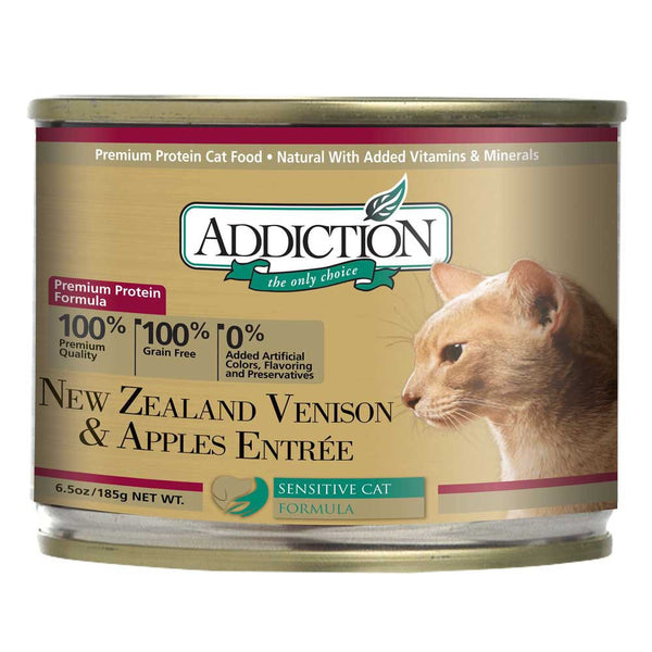 Addiction Venison & Apples Entree (Grain Free) Cat Food - Mr Fluffy Singapore Online Pet Store