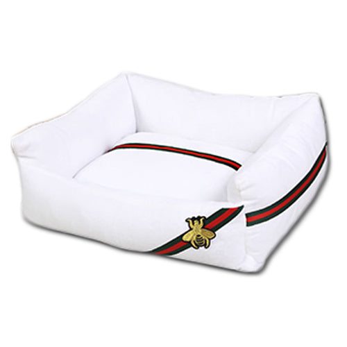 GUCCI Style Pet Cushion / Bed with Waterproof Base - Mr Fluffy Singapore Online Pet Store