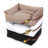GUCCI Style Pet Cushion / Bed with Waterproof Base - Mr Fluffy