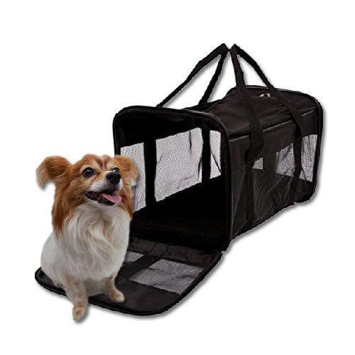 Large Pet Carrier with Netting - Mr Fluffy Singapore Online Pet Store