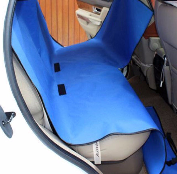 Pet Car Back Seat Hammock With Seat Belt Buckle Openings - Mr Fluffy Singapore Online Pet Store