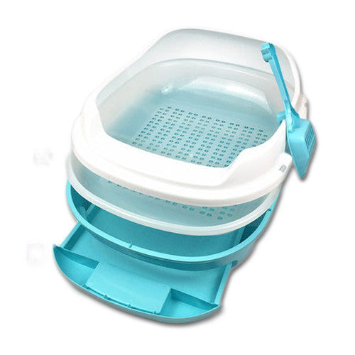 XL Cat Litter Box with Drawer Tray and Sieve - Mr Fluffy Singapore Online Pet Store