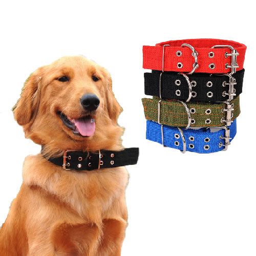 Canvas Large Pet Collar - Mr Fluffy