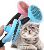 Pet Shedding Brush Comb Easy Clean - Mr Fluffy Singapore Online Pet Store