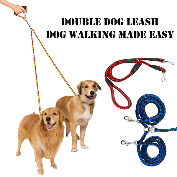 Double Dog Leash - Mr Fluffy