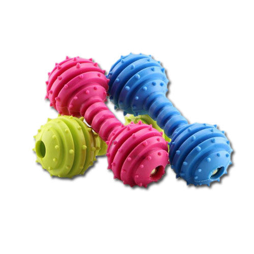 Pet Toy Dumb Bell With Bells - Mr Fluffy Singapore Online Pet Store