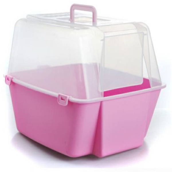 Covered Cat Litter Box With Free Scoop - Mr Fluffy Singapore Online Pet Store