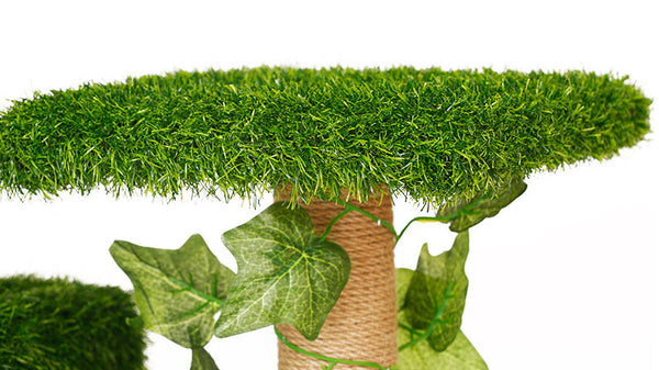 [PRE ORDER] 8-Tier Cat Climbing Tree / Playhouse with Synthetic Grass / Cat Condo - Mr Fluffy Singapore Online Pet Store