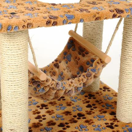 5-Tier Cat Tree Paw Print - Mr Fluffy Singapore Online Pet Store