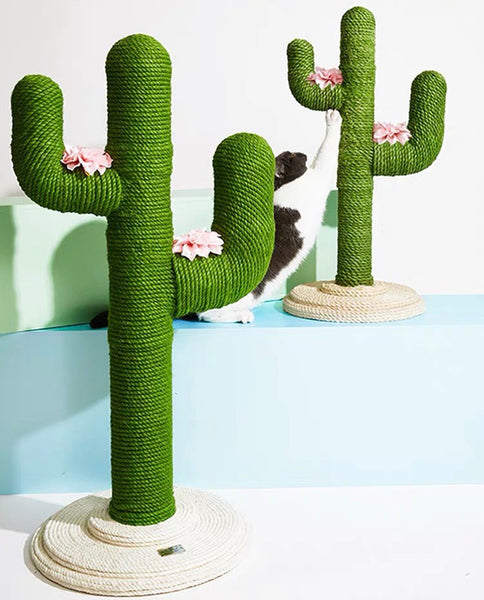 Hemp Rope Cactus Cat Climbing Tree / Scratch Post - Mr Fluffy