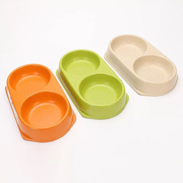 Bamboo Fiber Double Pet Bowl - Mr Fluffy Singapore Online Pet Store