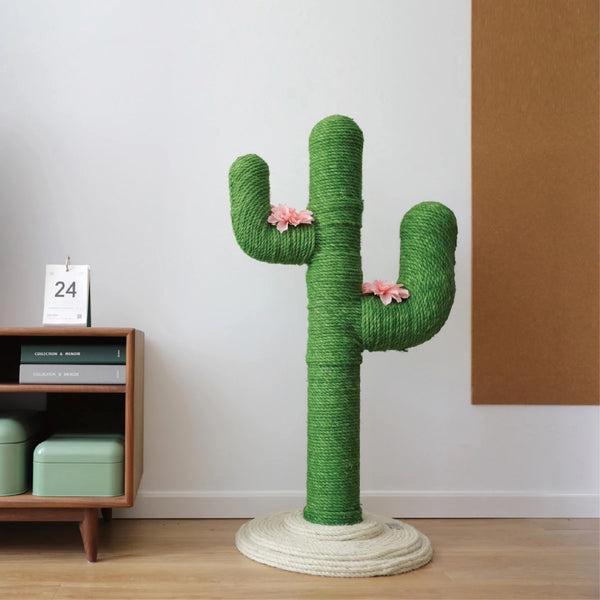 [PRE ORDER] Hemp Rope Cactus Cat Climbing Tree / Scratch Post - Mr Fluffy Singapore Online Pet Store