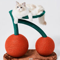 Limited Edition Cherry Cat Climbing Tree / Scratch Post - Mr Fluffy