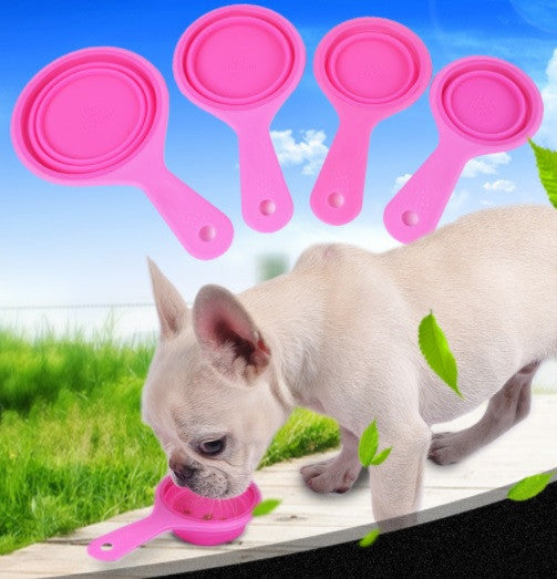 Pet Food Foldable Measuring Cup Set - Mr Fluffy Singapore Online Pet Store