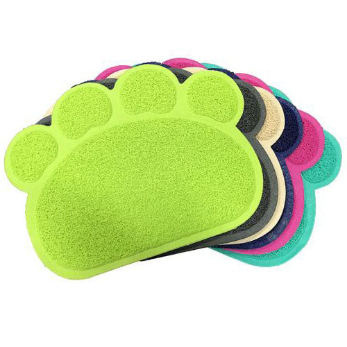 Paw Shape Cat Litter Non Slip Mat - Mr Fluffy Singapore Online Pet Store
