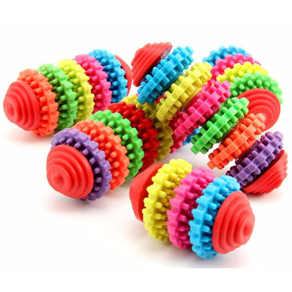 Pet Chew Toy Rotary Gear / Teeth Cleaning Toy - Mr Fluffy Singapore Online Pet Store