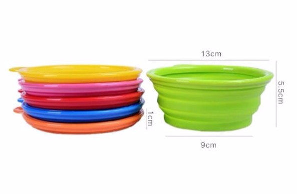 Standard Size Pet Travel Silicon Foldable Bowl - Mr Fluffy Singapore Online Pet Store